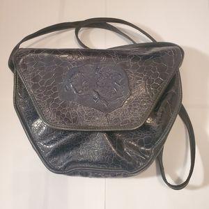 Rare 1980's Leather Carlos Falchi Crossbody